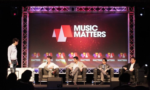 Social Media panel at Music Matters 2013 (L-R): Thomas Crampton (Social@Ogilvy), James Rothwell (Google), Ole Obermann (Sony Music), Miguel Bernas (SingTel), Robin Seow (HP)